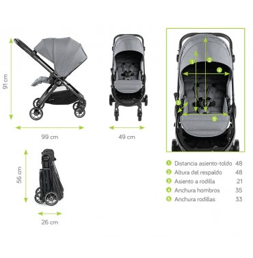 MEDIDAS CITY TOUR LUX BABY JOGGER